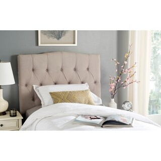 Safavieh Axel Taupe Linen Upholstered Tufted Headboard (Twin)