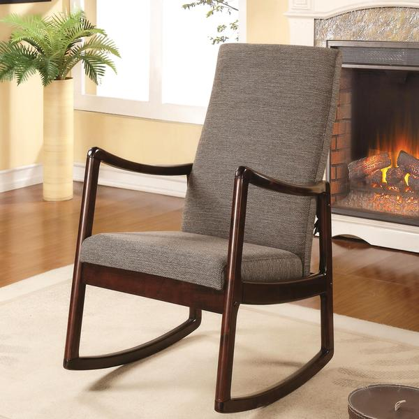 Amelia contemporary modern upholstered rocking chair - Modern upholstered living room chairs ...