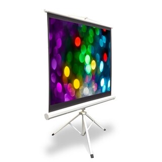 Pyle PRJTP42 40-inch Tripod Stand Style Video Projector Screen with Easy Fold-out and Roll-up Projection Display