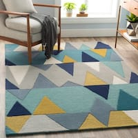 """Hand-Tufted Country Wool Area Rug - 5' x 7'6"""""""