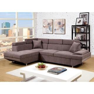 Furniture Of America Delton Contemporary Faux Nubuck