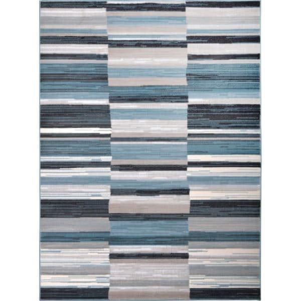 Home Dynamix Oxford Collection Blue Grey Striped Area