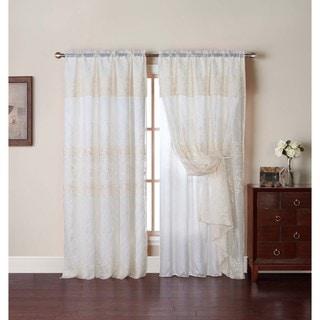 Lush Decor Ivory 84 Inch Paloma Curtain Panel 13745406