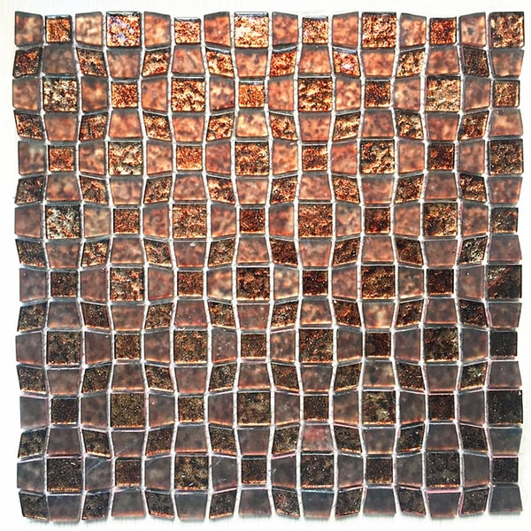 Instant Mosaic Peel And Stick 11 5 Inch Glass Mosaic Wall