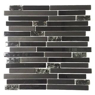 Black Tile Overstock Com Shopping Floor Backsplash