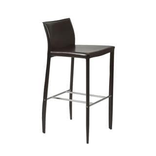 Kazan Brown Leather Barstools Set Of 2 10376809