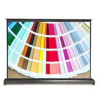 Pyle PRJTP53 50-inch Projector Viewing Display Screen with Manual Retractable Pull-out Style