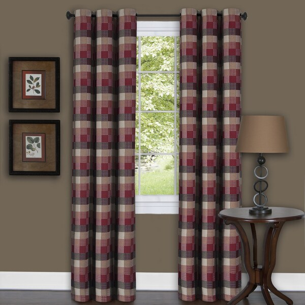 Harvard Burgundy Curtain Panel 18149276 Overstock Com