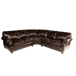 Abbyson Living Oxford Premium Top Grain Leather Sectional