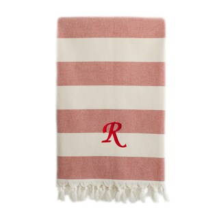 Authentic Pestemal Fouta Red And White Bold Stripe Turkish Cotton Bath Beach Towel