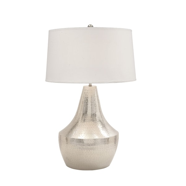 Metal Hammered Table Lamp 18171940 Overstock Com