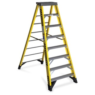 Stop Step Folding Aluminum Handrail Ladder 13337194