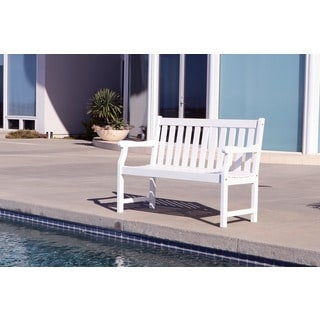 Wood Outdoor Benches Overstock Com Buy Patio Furniture