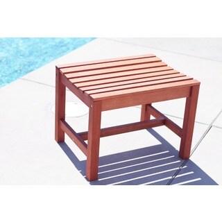 Malibu Eco-friendly Outdoor Hardwood Garden Backless Chair