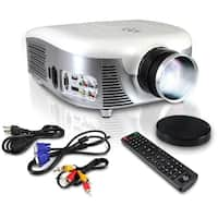 Pyle PRJD907 LED Widescreen Projector, 1080p HD Support, Up to 140-Inch Display, Built-In Speakers, Zoom Screen Size Adjustable