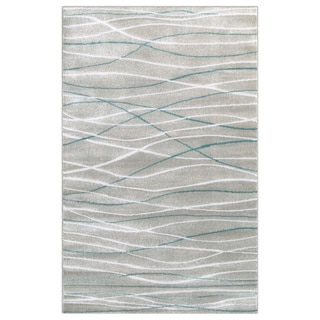 Hand Hooked Charlotte Ivory Metal Rug 3 6 X 5 6