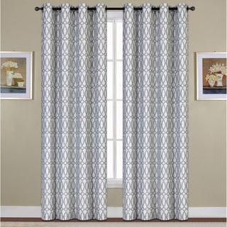 Vcny Hudson Jacquard Curtain Panel Pair