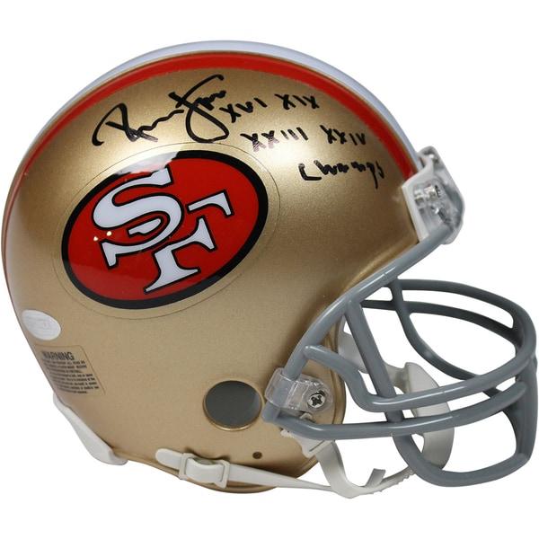 ca502403726 Joe Montana   Dwight Clark Dual Signed San Francisco 49ers White Panel