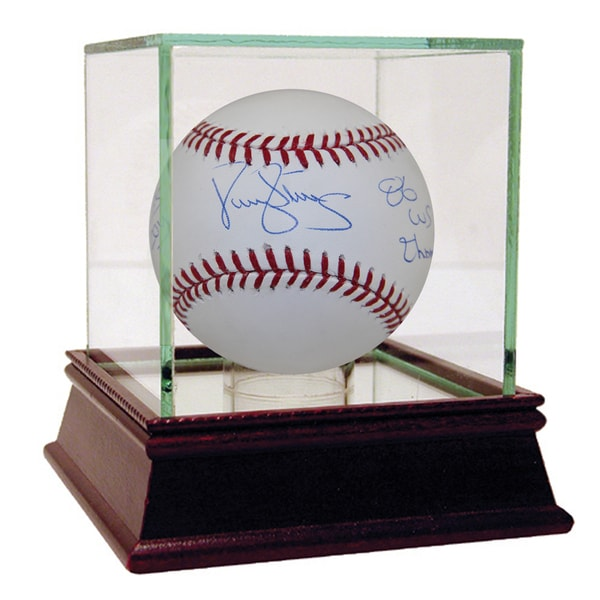 Darryl Strawberry Signed Mlb Baseball W Quot83 Roy 86 Ws Champsquot Insc image