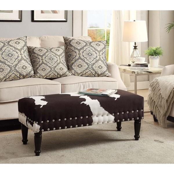 Convenience Concepts Designs 4 Comfort Faux Cowhide Bench