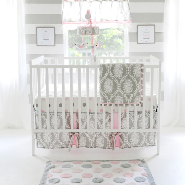 My Baby Sam Olivia Rose 3 Piece Crib Bedding Set
