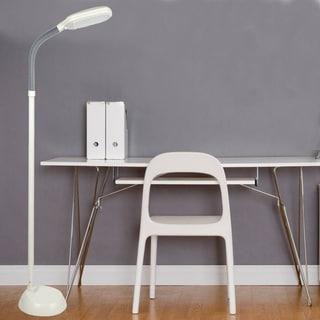 Lavish Home Super Bright Led Adjustable Floor Lamp With Dome Head 16476322 Overstock Com