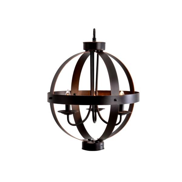Catalina Bronze 3 Light Metal Orb Chandelier 18309429 Overstock Com Shopping Great Deals On Chandeliers Amp Pendants