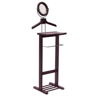 Mahogany Finish Clothes Valet Stand 10101781 Overstock