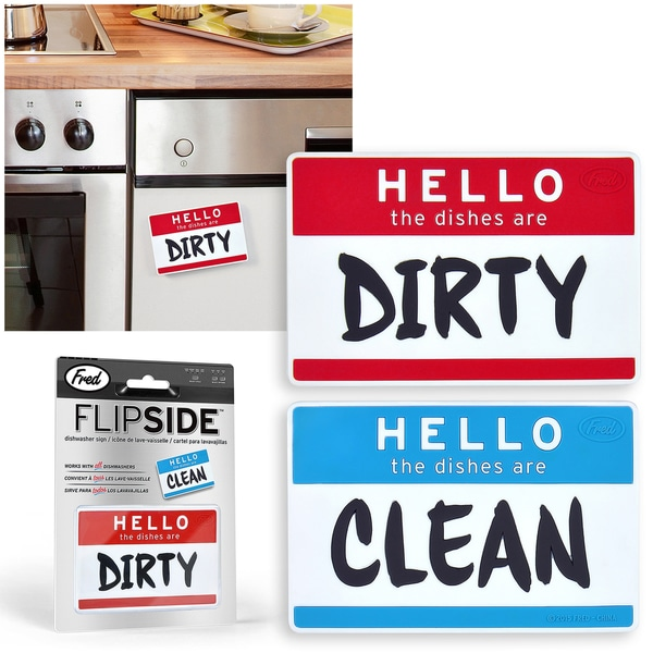 FRED Flipside Hello Clean/ Dirty Dishes Dishwasher ...