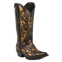 Black Star WEBB (Tan) Women's Cowboy Boots
