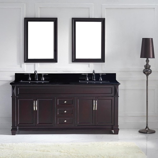 Virtu Usa Victoria 72 Inch Double Bathroom Vanity Cabinet