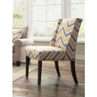 Anna Yellow Ikat Accent Chair 15845036 Overstock Com