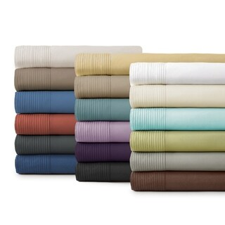 Stylish Pleated Hem 21-inch Extra Deep Pocket Comfortable Sheet Set by Southshore Fine Linens