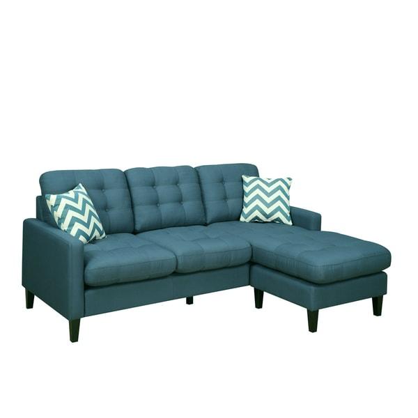 Sofa Pillows Contemporary: Porter Harlow Deep Teal Contemporary Modern Sofa With