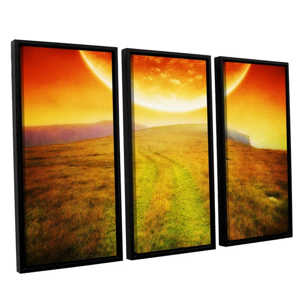 ArtWall 'Dragos Dumitrascu's Apocolypse Now' 3-piece Floater Framed Canvas Set - Multi