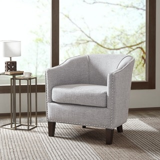 Madison Park Wilshire Spooled Leg Exposed Wood Arm Chair