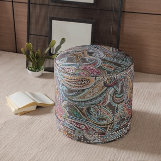 Skyline Furniture Cube Ottoman In Bombay Mango Cotton