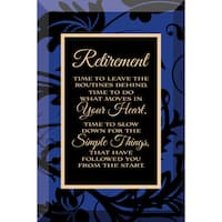 Dexsa Retirement Beveled Glass Plaque with Easel