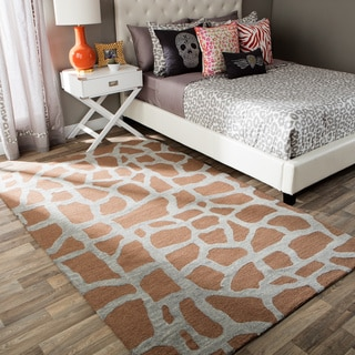Andrew Charles Snow Leopard Collection Zebra Beige Area