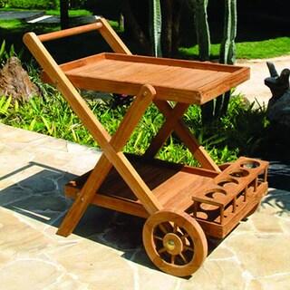 Safavieh Outdoor Living Lodi Grey Wash Beige Tea Cart