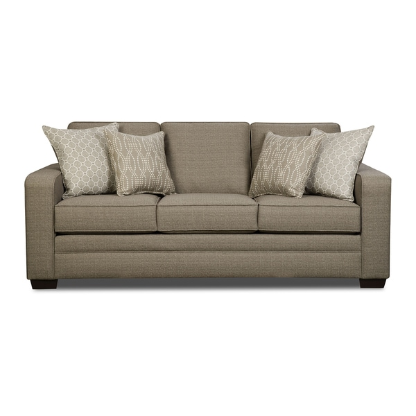 Simmons Sleeper Sofa: Simmons Upholstery Seguin Pewter Queen Sleeper Sofa