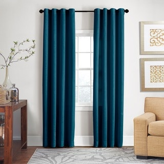 Textured Jacquard Cotton 84 Inch Curtain Panel Pair