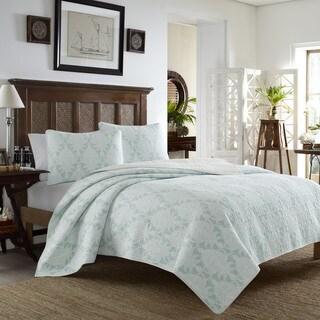 Tommy Bahama Aruba Blue 3 Piece Cotton Quilt Set