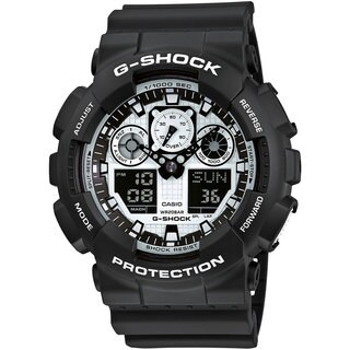 Casio G-Shock GA-100BW-1A Black & White Series Men's Watch