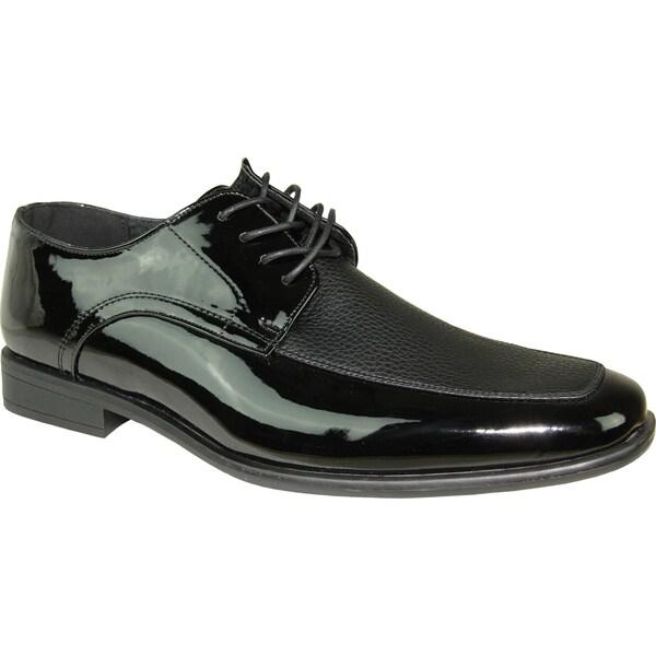 Wide Width Black Patent Leather Shoes Men