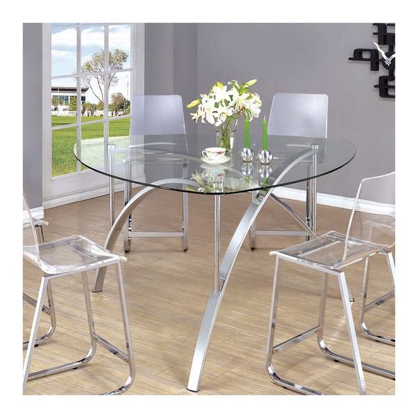 Furniture Of America Miellis Contemporary Triangular Glass