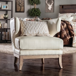 Travis Nailhead Accent Bonded Leather Wing Chair