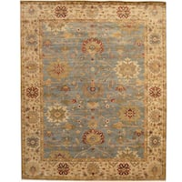 Herat Oriental Indo Hand-knotted Tribal Oushak Wool Rug - 8' x 10'