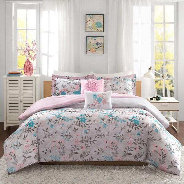 Intelligent Design Lucy Pink/ Teal Comforter Set ...