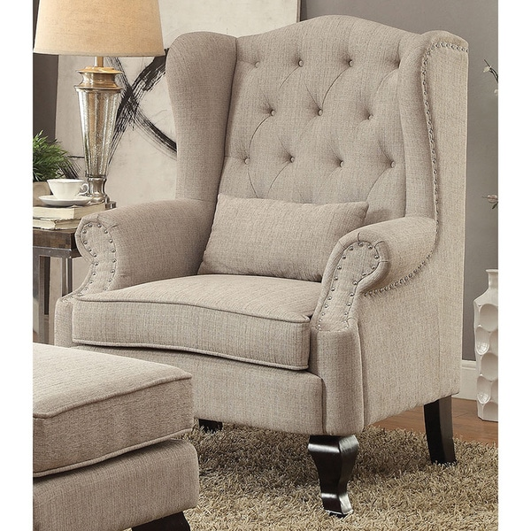Furniture Of America Irving Traditional Tufted Wingback
